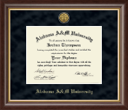Alabama A & M University Diploma Frame - Gold Engraved Medallion Diploma Frame in Hampshire