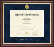Georgia Southern University Diploma Frame - Gold Engraved Medallion Diploma Frame in Hampshire