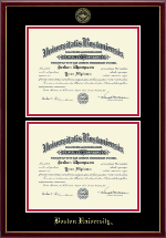 Boston University Diploma Frame - Double Diploma Frame in Galleria