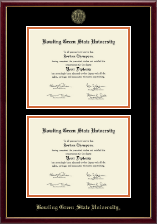 Bowling Green State University Diploma Frame - Double Diploma Frame in Galleria