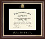 McNeese State University Diploma Frame - Gold Engraved Medallion Diploma Frame in Hampshire