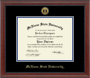 McNeese State University Diploma Frame - Gold Engraved Medallion Diploma Frame in Signature
