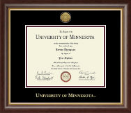 University of Minnesota Twin Cities Diploma Frame - Gold Engraved Medallion Diploma Frame in Hampshire