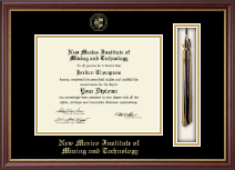 New Mexico Institute of Mining & Technology Diploma Frame - Tassel Diploma Frame in Newport