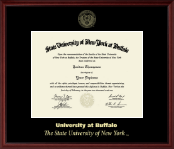 University at Buffalo Diploma Frame - Gold Embossed Diploma Frame in Camby