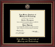 New Mexico Institute of Mining & Technology Diploma Frame - Masterpiece Medallion Diploma Frame in Kensington Gold