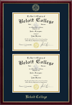 Beloit College Diploma Frame - Double Diploma Frame in Galleria