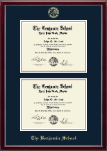 The Benjamin School Diploma Frame - Double Diploma Frame in Galleria