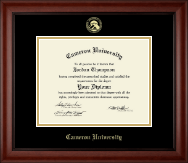 Cameron University Diploma Frame - Gold Embossed Diploma Frame in Cambridge
