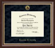 Cameron University Diploma Frame - Gold Engraved Medallion Diploma Frame in Hampshire