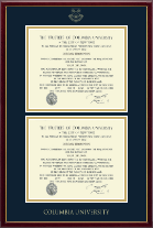 Columbia University Diploma Frame - Double Diploma Frame in Galleria