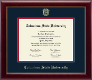 Columbus State University Diploma Frame - Gold Embossed Diploma Frame in Gallery