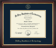 DeVry Institute of Technology Diploma Frame - Embossed Diploma Frame in Regency Gold