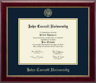 John Carroll University Diploma Frame - Gold Embossed Diploma Frame in Gallery