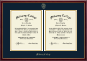 Midway College Diploma Frame - Double Diploma Frame in Galleria