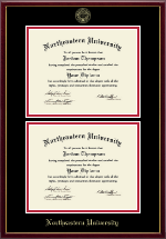 Northeastern University Diploma Frame - Double Diploma Frame in Galleria