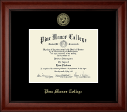 Pine Manor College Diploma Frame - Gold Embossed Diploma Frame in Cambridge