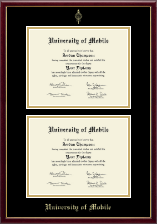 University of Mobile Diploma Frame - Double Diploma Frame in Galleria