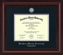 Southern Illinois University Carbondale Diploma Frame - Presidential Silver Engraved Diploma Frame in Premier
