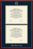 Yale University Diploma Frame - Double Diploma Frame in Galleria