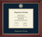 Augustana College Illinois Diploma Frame - Masterpiece Medallion Diploma Frame in Kensington Gold