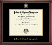 Palmer College of Chiropractic Iowa Diploma Frame - Masterpiece Medallion Diploma Frame in Kensington Gold
