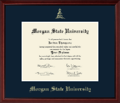 Morgan State University Diploma Frame - Gold Embossed Diploma Frame in Camby