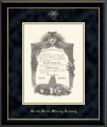 United States Military Academy Diploma Frame - Embossed Diploma Frame in Onyx Gold