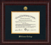 Williams College Diploma Frame - Presidential Gold Engraved Diploma Frame in Premier
