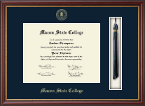 Macon State College Diploma Frame - Tassel Diploma Frame in Newport