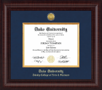 Duke University Diploma Frame - Presidential Gold Engraved Diploma Frame in Premier