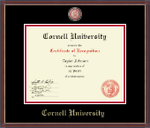 Cornell University Certificate Frame - Masterpiece Medallion Certificate Frame in Kensit Gold