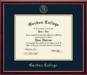 Gordon College in Georgia Diploma Frame - Gold Embossed Diploma Frame in Galleria