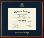 Gordon College in Georgia Diploma Frame - Gold Embossed Diploma Frame in Williamsburg