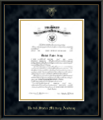 United States Military Academy Certificate Frame - Embossed Certificate Frame in Onexa Gold