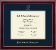 Yale University Diploma Frame - Gold Embossed Diploma Frame - School of Management in Gallery