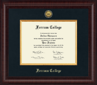 Ferrum College Diploma Frame - Presidential Gold Engraved Diploma Frame in Premier
