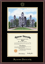 Syracuse University Diploma Frame - Litho Edition Diploma Frame in Kensit Gold