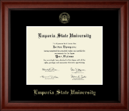 Emporia State University Diploma Frame - Gold Embossed Diploma Frame in Cambridge