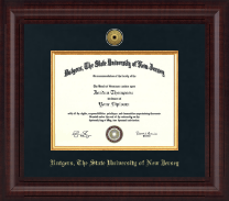 Rutgers University, The State University of New Jersey Diploma Frame - Presidential Gold Engraved Diploma Frame in Premier