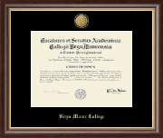 Bryn Mawr College Diploma Frame - 23K Medallion Diploma Frame in Hampshire