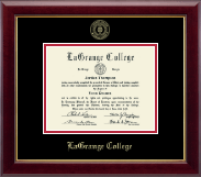LaGrange College Diploma Frame - Gold Embossed Diploma Frame in Gallery