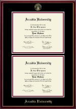 Arcadia University Diploma Frame - Double Diploma Frame in Galleria