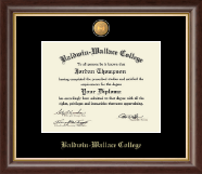 Baldwin-Wallace College Diploma Frame - 23K Medallion Diploma Frame in Hampshire