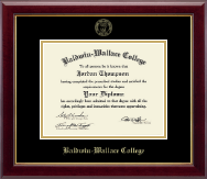 Baldwin-Wallace College Diploma Frame - Gold Embossed Diploma Frame in Gallery