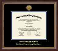 University at Buffalo Diploma Frame - Gold Engraved Medallion Diploma Frame in Hampshire