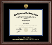 University at Buffalo The State University of New York Diploma Frame - Gold Engraved Medallion Diploma Frame in Hampshire