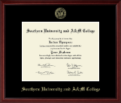 Southern University and A&M College Diploma Frame - Gold Embossed Diploma Frame in Camby