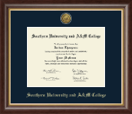 Southern University and A&M College Diploma Frame - Gold Engraved Medallion Diploma Frame in Hampshire