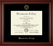 Westminster College in Missouri Diploma Frame - Gold Embossed Diploma Frame in Cambridge